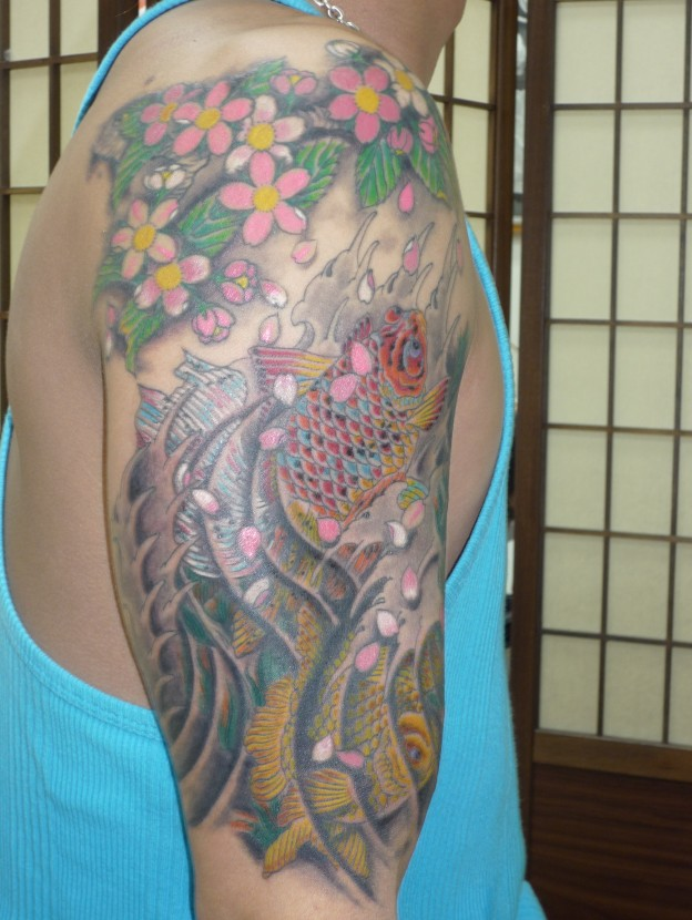 桜花絢爛 金魚
